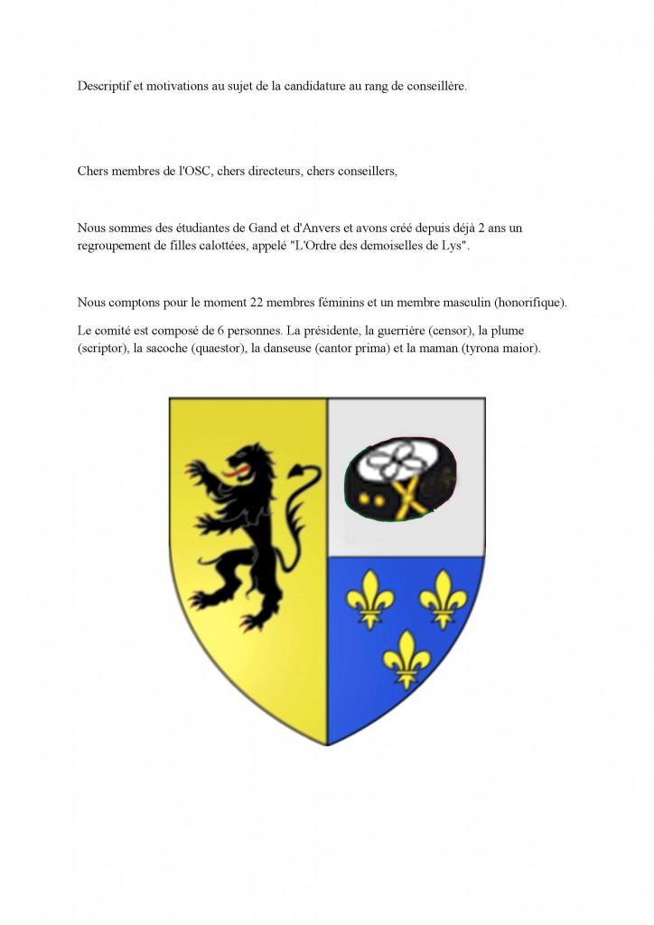 Descriptif de l_ordre des Demoiselles de Lys_1