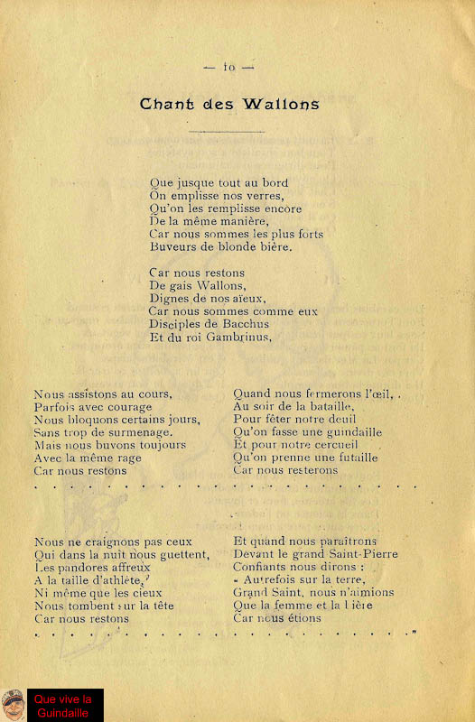 Chant des Wallon_Fleur du Male 1922