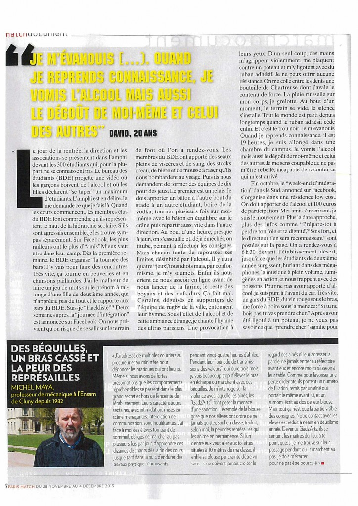 20131128 - PARIS MATCH n638_Bizutage et Bapteme étudiants (2)